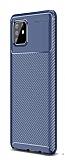 Eiroo Rugged Carbon Samsung Galaxy Note 10 Lite Lacivert Silikon Kılıf