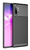 Eiroo Rugged Carbon Samsung Galaxy Note 10 Plus Siyah Silikon Kılıf
