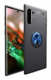 Eiroo Liquid Ring Samsung Galaxy Note 10 Mavi-Siyah Silikon Kılıf