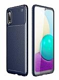 Eiroo Rugged Carbon Samsung Galaxy A02 Lacivert Silikon Kılıf