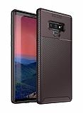 Eiroo Rugged Carbon Samsung Galaxy Note 9 Kahverengi Silikon Kılıf