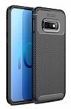 Eiroo Rugged Carbon Samsung Galaxy S10 Plus Siyah Silikon Kılıf