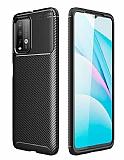 Eiroo Rugged Carbon Xiaomi Poco M3 Siyah Silikon Kılıf