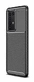 Eiroo Rugged Carbon Huawei P40 Pro Siyah Silikon Kılıf