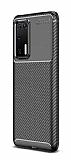 Eiroo Rugged Carbon Huawei P40 Siyah Silikon Kılıf