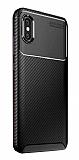 Eiroo Rugged Carbon Xiaomi Mi 8 Pro Siyah Silikon Kılıf