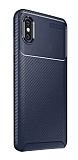Eiroo Rugged Carbon Xiaomi Mi 8 Pro Lacivert Silikon Kılıf