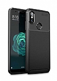 Eiroo Rugged Carbon Xiaomi Mi 8 Siyah Silikon Kılıf