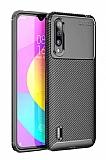 Eiroo Rugged Carbon Xiaomi Mi 9 Lite Siyah Silikon Kılıf