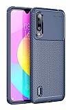 Eiroo Rugged Carbon Xiaomi Mi A3 Lacivert Silikon Kılıf