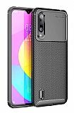 Eiroo Rugged Carbon Xiaomi Mi A3 Siyah Silikon Kılıf