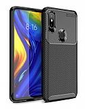 Eiroo Rugged Carbon Xiaomi Mi Mix 3 Siyah Silikon Kılıf