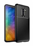 Eiroo Rugged Carbon Xiaomi Pocophone F1 Siyah Silikon Kılıf