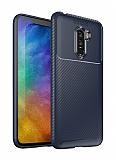 Eiroo Rugged Carbon Xiaomi Pocophone F1 Lacivert Silikon Kılıf