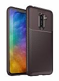 Eiroo Rugged Carbon Xiaomi Pocophone F1 Kahverengi Silikon Kılıf