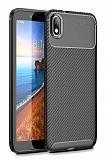 Eiroo Rugged Carbon Xiaomi Redmi 7A Siyah Silikon Kılıf