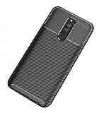 Eiroo Rugged Carbon Xiaomi Redmi 8 Siyah Silikon Kılıf