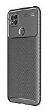 Eiroo Rugged Carbon Xiaomi Redmi 9C Siyah Silikon Kılıf
