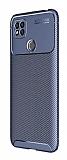 Eiroo Rugged Carbon Xiaomi Redmi 9C Lacivert Silikon Kılıf