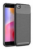 Eiroo Rugged Carbon Xiaomi Redmi Go Siyah Silikon Kılıf