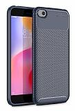 Eiroo Rugged Carbon Xiaomi Redmi Go Lacivert Silikon Kılıf
