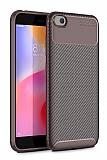 Eiroo Rugged Carbon Xiaomi Redmi Go Kahverengi Silikon Kılıf