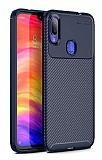Eiroo Rugged Carbon Xiaomi Redmi Note 7 Lacivert Silikon Kılıf