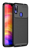 Eiroo Rugged Carbon Xiaomi Redmi Note 7 / Note 7 Pro Siyah Silikon Kılıf