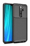Eiroo Rugged Carbon Xiaomi Redmi Note 8 Pro Siyah Silikon Kılıf