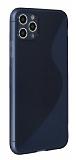 Eiroo S Line iPhone 11 Pro Max Mavi Silikon Kılıf