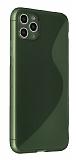 Eiroo S Line iPhone 11 Pro Max Yeşil Silikon Kılıf