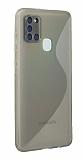 Eiroo S Line Samsung Galaxy A21s Şeffaf Silikon Kılıf