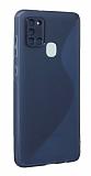 Eiroo S Line Samsung Galaxy A21s Mavi Silikon Kılıf