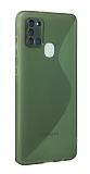Eiroo S Line Samsung Galaxy A21s Yeşil Silikon Kılıf