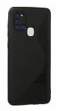 Eiroo S Line Samsung Galaxy A21s Siyah Silikon Kılıf