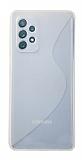 Eiroo S Line Samsung Galaxy A52 / Galaxy A52 5G Şeffaf Silikon Kılıf