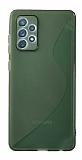 Eiroo S Line Samsung Galaxy A72 / Galaxy A72 5G Yeşil Silikon Kılıf