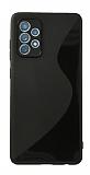 Eiroo S Line Samsung Galaxy A72 / Galaxy A72 5G Siyah Silikon Kılıf