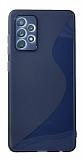 Eiroo S Line Samsung Galaxy A72 / Galaxy A72 5G Mavi Silikon Kılıf