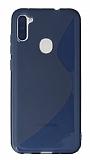 Eiroo S Line Samsung Galaxy A11 / Galaxy M11 Mavi Silikon Kılıf
