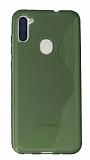 Eiroo S Line Samsung Galaxy A11 / Galaxy M11 Yeşil Silikon Kılıf