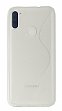 Eiroo S Line Samsung Galaxy A11 / Galaxy M11 Şeffaf Silikon Kılıf