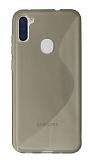 Eiroo S Line Samsung Galaxy A11 / Galaxy M11 Gri Silikon Kılıf