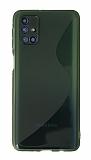 Eiroo S Line Samsung Galaxy M51 Yeşil Silikon Kılıf