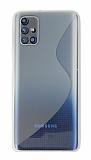 Eiroo S Line Samsung Galaxy M51 Şeffaf Silikon Kılıf