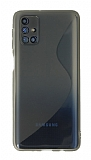 Eiroo S Line Samsung Galaxy M51 Gri Silikon Kılıf