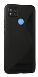 Eiroo S Line Xiaomi Poco C3 Siyah Silikon Kılıf