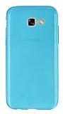 Samsung A5 2017 Ultra İnce Şeffaf Mavi Silikon Kılıf