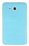 Eiroo Samsung Galaxy A 7.0 2016 Ultra İnce Şeffaf Mavi Silikon Kılıf