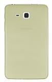 Eiroo Samsung Galaxy A 7.0 2016 Ultra İnce Şeffaf Gold Silikon Kılıf